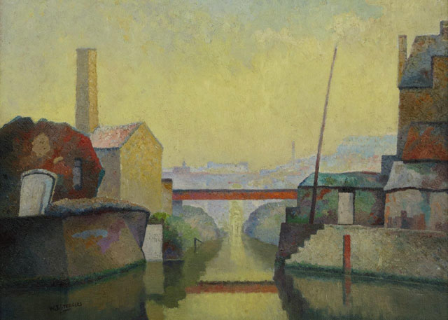 Walter Steggles. Stratford, 1938. Oil on canvas, 42 x 54 cm. Private collection, © the artist's estate.