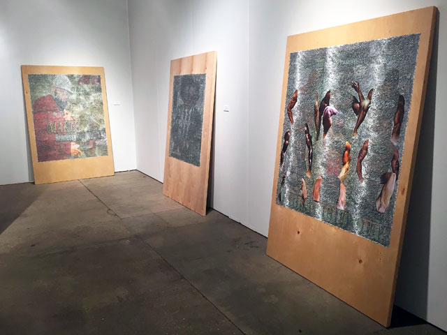 Wilmer Wilson IV, installation view at Connersmith, EXPO Chicago 2017. Photograph: Harriet Thorpe.