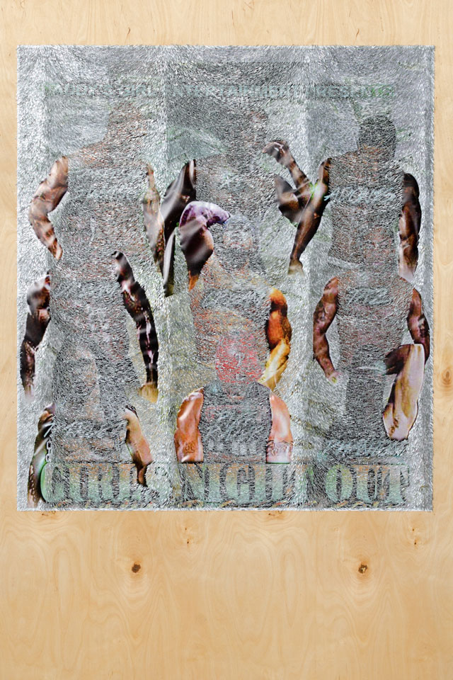 Wilmer Wilson IV. Girls Night Out, 2016. Mixed media on wood, 72 x 48 in. © Wilmer Wilson IV, Courtesy of Connersmith, Washington DC.
