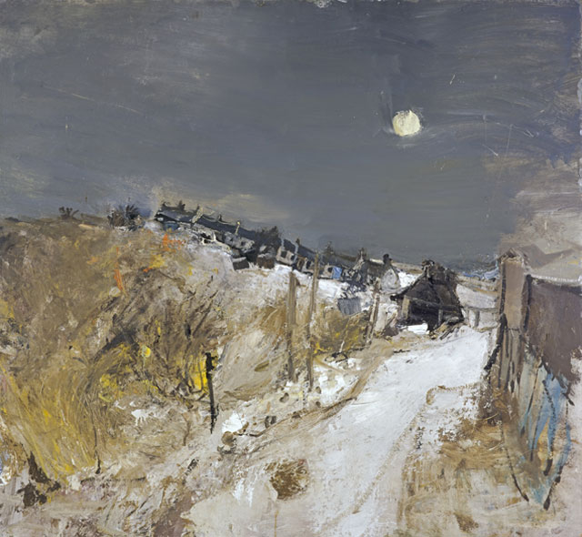 Joan Eardley. Catterline in Winter, 1963. Oil on board, 120.7 x 130.8 cm. Collection: Scottish National Gallery of Modern Art, purchased 1964. © Estate of Joan Eardley. All Rights Reserved, DACS 2016.