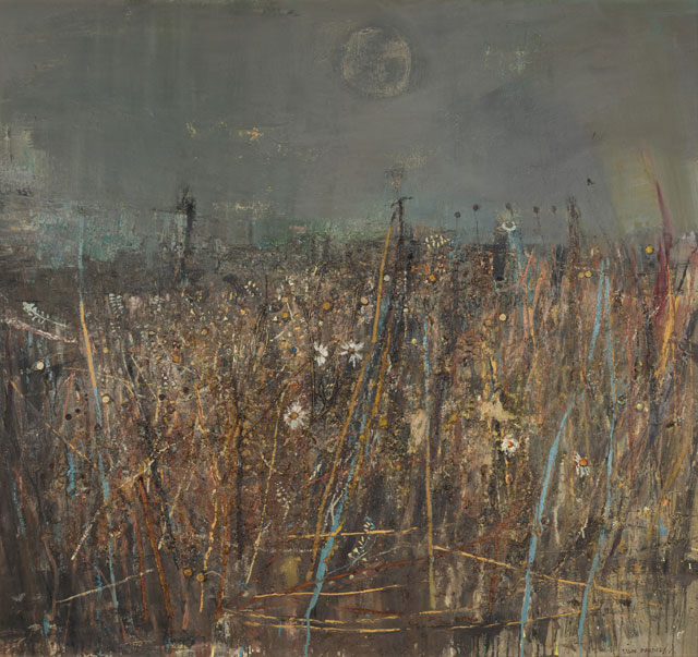 Joan Eardley. Seeded Grasses and Daisies,1960. Oil on board, incorporating grass stalks and seedheads, 121.9 x 133.3 cm. Collection: Scottish National Gallery of Modern Art. © Estate of Joan Eardley. All Rights Reserved, DACS 2016.
