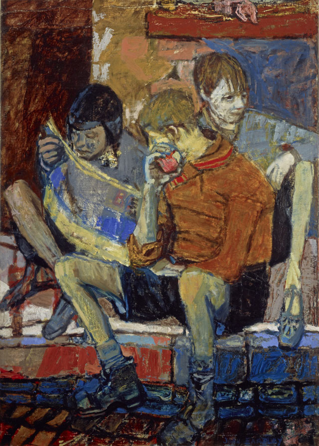 Joan Eardley. Street Kids, c1950. Oil on canvas, laid on board, 102.90 x 73.70 cm. Collection: Scottish National Gallery of Modern Art. Purchased with funds given by an anonymous donor 1964. © Estate of Joan Eardley. All Rights Reserved, DACS 2016.