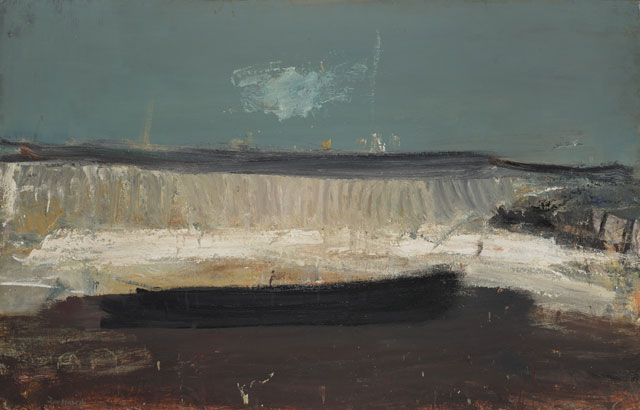 Joan Eardley. The Wave, 1961. Oil and grit on hardboard, 121.9 x 188 cm. Collection: Scottish National Gallery of Modern Art, purchased (Gulbenkian UK Trust Fund) 1962. © Estate of Joan Eardley. All Rights Reserved, DACS 2016. Photograph: Antonio Reeve.