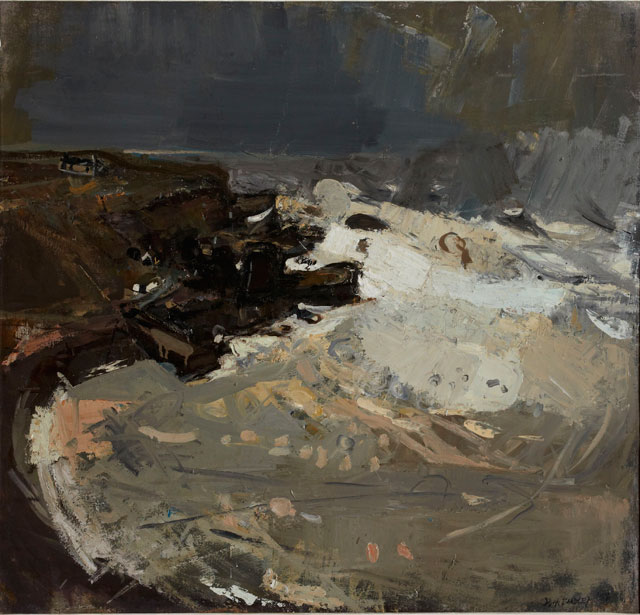 Joan Eardley. Winter Sea V, 1958. Oil on canvas, 43.5 x 51 cm. Private collection. © Estate of Joan Eardley. All Rights Reserved, DACS 2016.