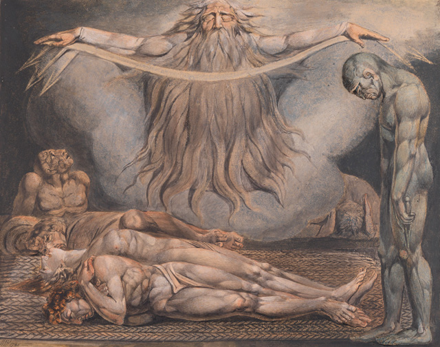 William Blake. The House of Death 1795-c1805. Colour print, ink and watercolour on paper, 48.5 x 61 cm. Tate. Presented by W. Graham Robertson 1939. Photograph © Tate 2016.