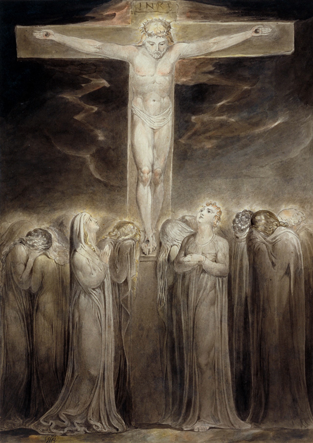 William Blake. The Crucifixion: 'Behold Thy Mother', c1805. Ink and watercolour on paper, 41.3 x 30 cm. Tate. Presented by the executors of W. Graham Robertson through the Art Fund 1949. Photograph © Tate 2016.