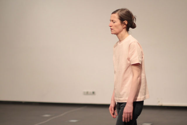 Mette Edvardsen performing No Title in Madrid, 2016. Photograph: Maria Eugenia Serrano Diez.