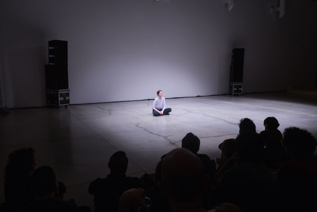Mette Edvardsen performing No Title at Live Arts Week III, Xing (Bologna), 2014. Photograph: Massimiliano Donati.