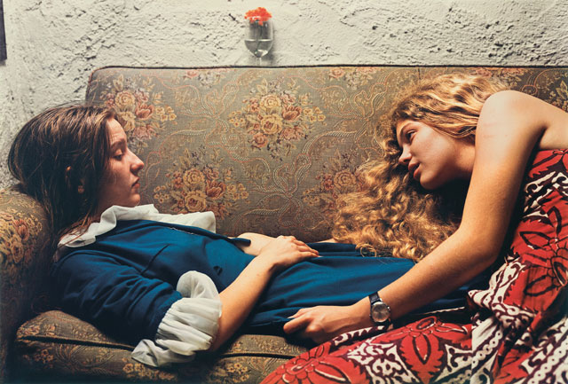 William Eggleston. Untitled, 1974 (Karen Chatham, left, with the artist's cousin Lesa Aldridge, in Memphis, Tennessee). Wilson Centre for Photography. © Eggleston Artistic Trust.