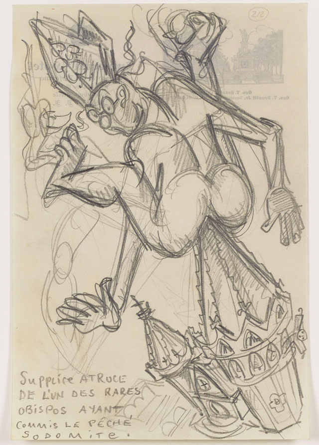 Sergei Eisenstein. Untitled, c1931. Graphite on paper, 9.2 x 6.18 in (23.39 x 15.7 cm). 