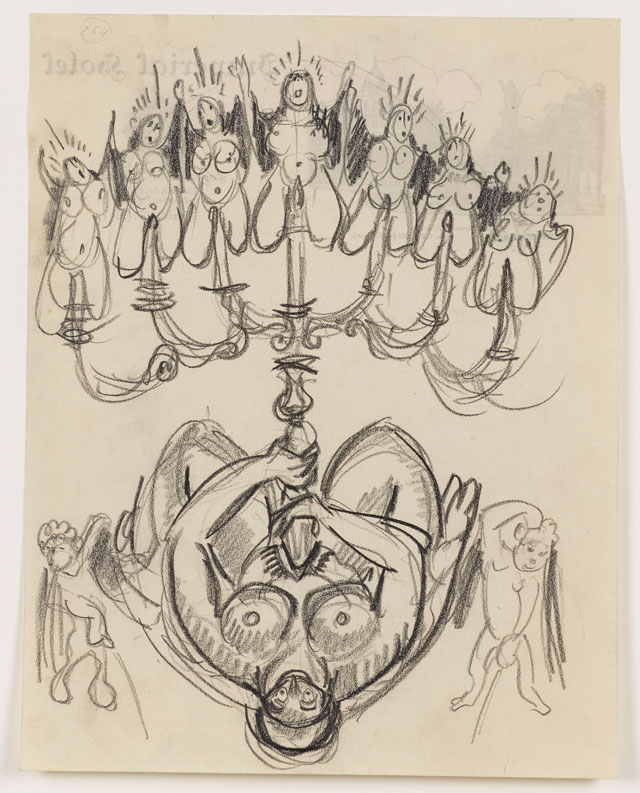 Sergei Eisenstein. Untitled, c1931. Graphite on paper, 10.67 x 8.31 in (27.1 x 21.1 cm). Private collection. Courtesy Alexander Gray Associates, New York and Matthew Stephenson, London.