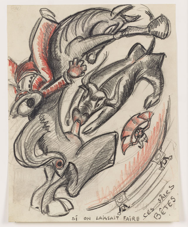 Sergei Eisenstein. Untitled, undated. Coloured pencil on paper, 10.67 x 8.27 in (27.1 x 21 cm). Private collection. Courtesy Alexander Gray Associates, New York and Matthew Stephenson, London.