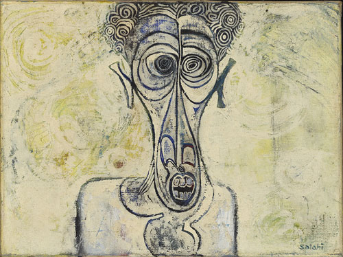 Ibrahim El-Salahi. Self-Portrait of Suffering, 1961. Iwalewa-Haus, University of Bayreuth, Germany 