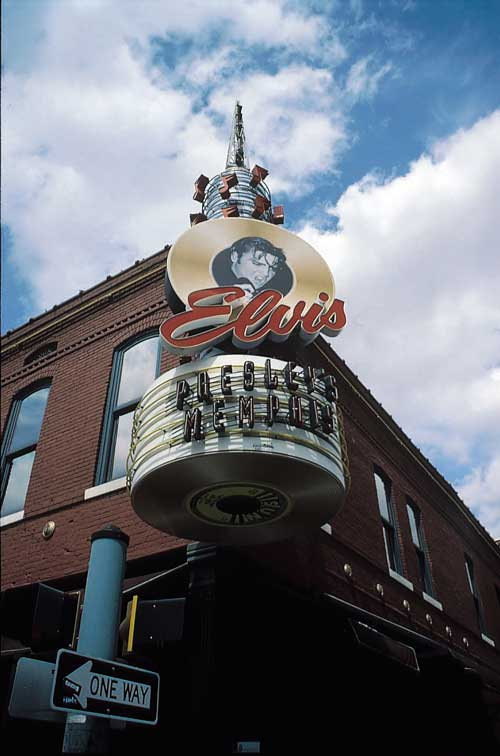Sign in Beale Street, Memphis<br>