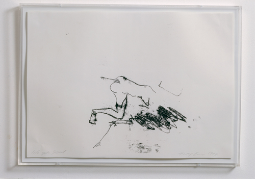 Tracey Emin. <em>Life Gets Good</em> 1999. Monoprint, 11 11/16 x 16 1/2 inches (29.7 x 42 cm). Copyright © the artist. Photo: Stephen White. Courtesy White Cube.