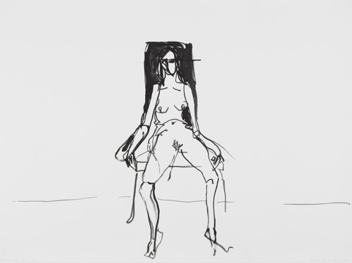 Tracey Emin. Lonely Chair drawing II, 2012. Gouache on paper, 101.5 × 137 cm. Courtesy the artist and Lehmann Maupin, New York and Hong Kong. © Bildrecht, Vienna 2015.
