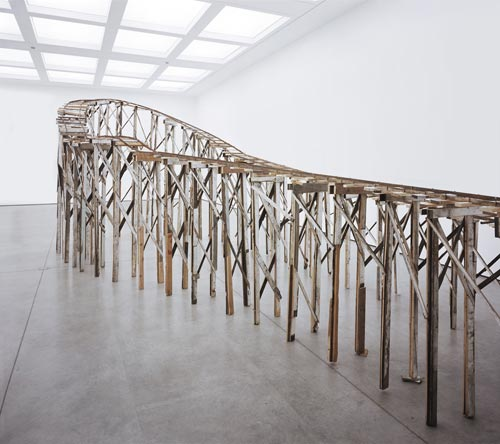 Tracey Emin. It's Not the Way I Want to Die, 2005. Reclaimed metal and timber, 310 x 860 x 405 cm (1221/16 x 1597/16 x 3383/8 inches). Courtesy Jay Jopling / White Cube, London