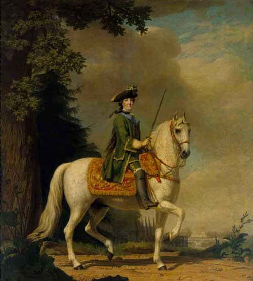 Equestrian Portrait of Catherine II. By Vigilius Eriksen, 1722-82, Danish, signed after 1762. Oil on canvas.