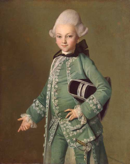Count Alexei Bobrinsky as a child. By Carl Ludvig Christineck (1732/3-1792/4). Swedish, signed and dated 1769. Oil on canvas.