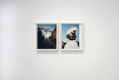 Haris Epaminonda. Untitled #02 t/c, 2010. Two found framed images (diptych), 31.2 x 24.9 cm and 31.2 x 25.5 cm. Courtesy the artist and Rodeo Istanbul/London. Photograph: Tate photography © 2010.