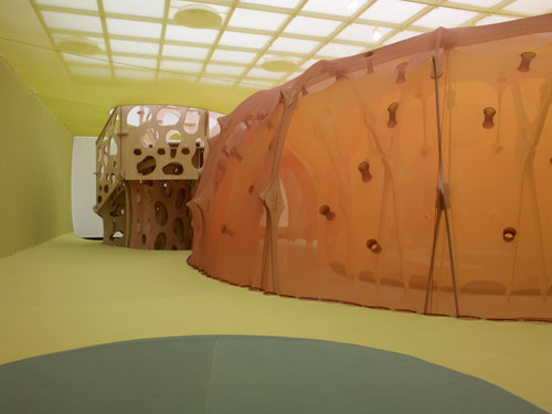 Ernesto Neto. <em>The Edges of the World,</em> 2010 (view 3). Installation at Hayward Gallery, London. Photograph: Steve White.