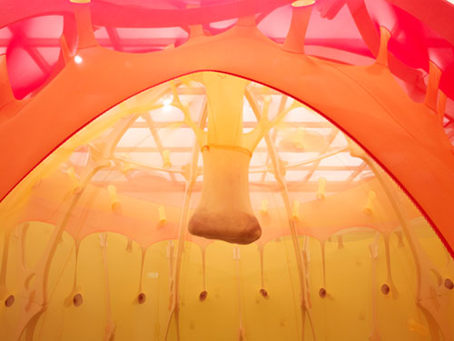Ernesto Neto. <em>The Edges of the World,</em> 2010 (view 4). Installation at Hayward Gallery, London. Photograph: Steve White.