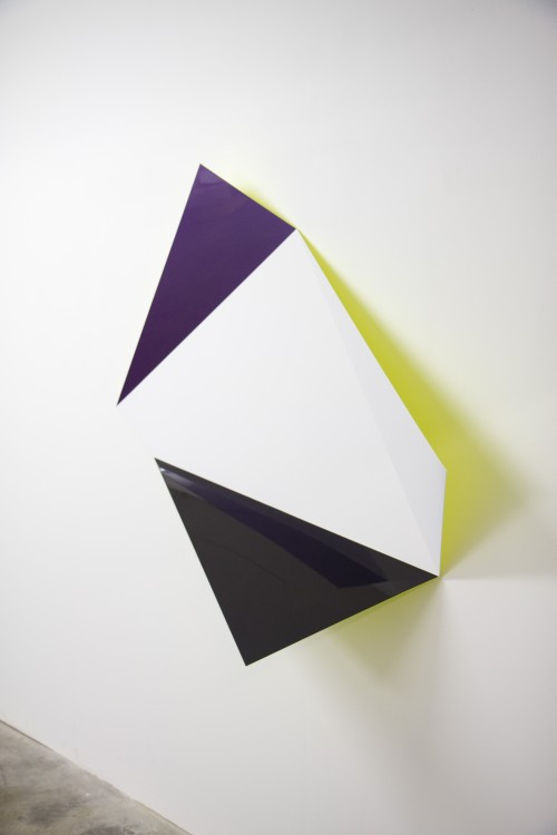 Rana Begum. No. 562 Fold, 2014. Paint on stainless steel, 58.7 x 48.8 x 15.3 in (149 x 124 x 39 cm). Courtesy the artist and Jhaveri Contemporary.