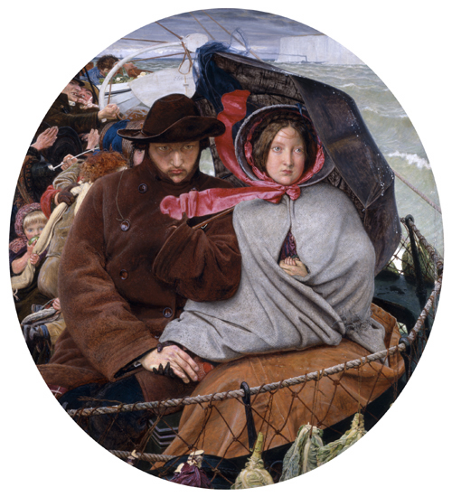 Ford Madox Brown (born France 1821, lived in England 1844&ndash;93, died England 1893). <em>The Last of England</em> 1855. Oil on wood panel, 82.6 x 75.0 cm. Birmingham Museum and Art Gallery, Birmingham. Purchased, 1891.