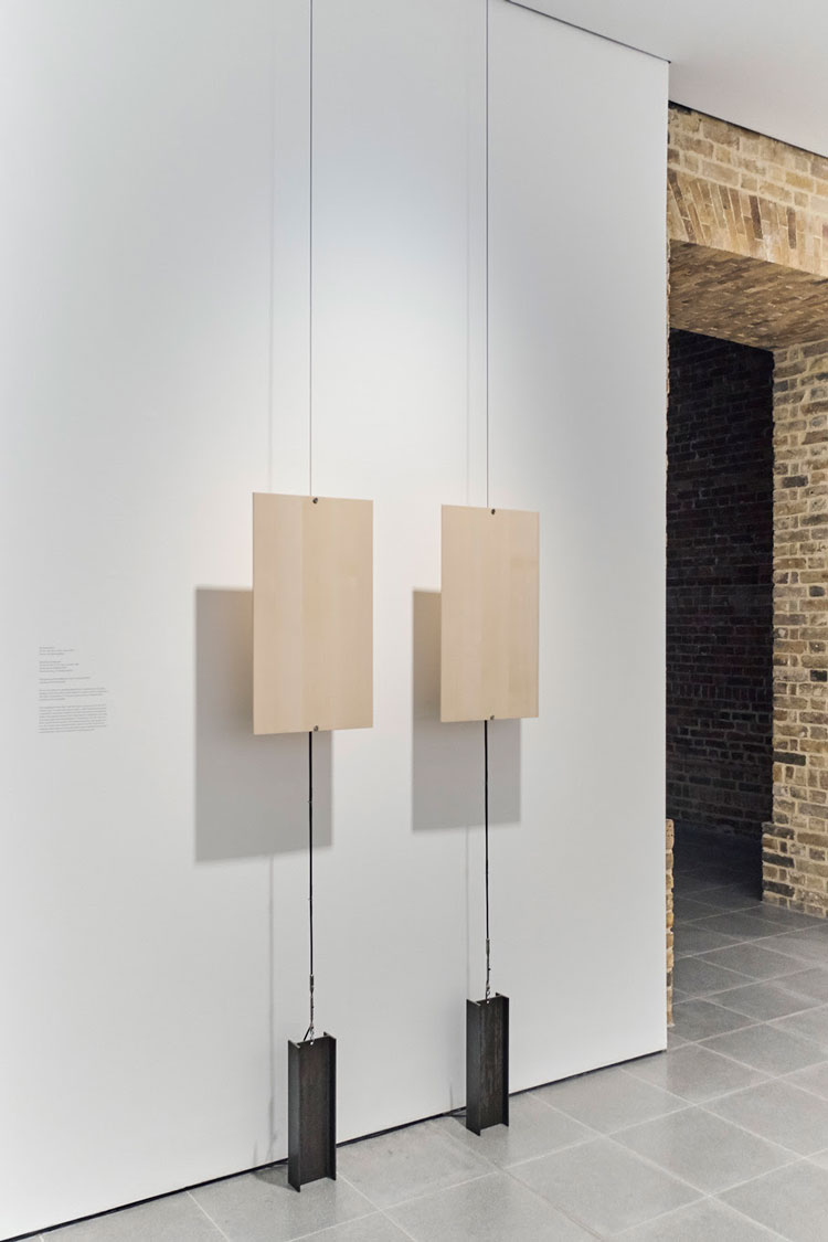 On the resonance of the forest, 2020. Spruce speakers by CIRESA, two 60W amplifiers. Formafantasma, Cambio, installation view, Serpentine Sackler Gallery, London, 4 March – 17 May 2020. Photo courtesy Formafantasma.