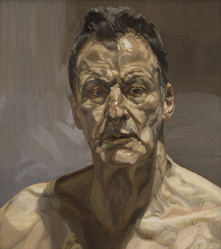 Lucian Freud. Reflection (Self-portrait), 1985. Oil on canvas, 55.9 x 55.3 cm. Private collection, on loan to the Irish Museum of Modern Art. © The Lucian Freud Archive / Bridgeman Images.