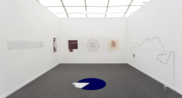Installation photograph, Booth C28 at Frieze New York 2019. Courtesy Ivan Gallery, Bucharest.