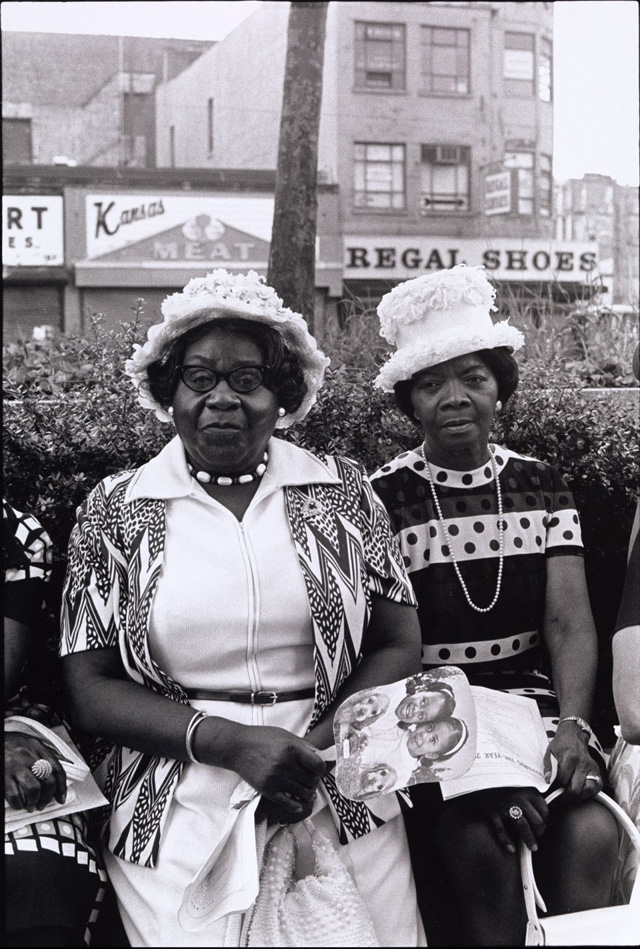 Ming Smith, Amen Corner Sisters, New York City, NY, 1976. Gelatin silver print, 20 x 16 in (50.8 x 40.6 cm). Courtesy of the Artist and Jenkins Johnson Gallery.