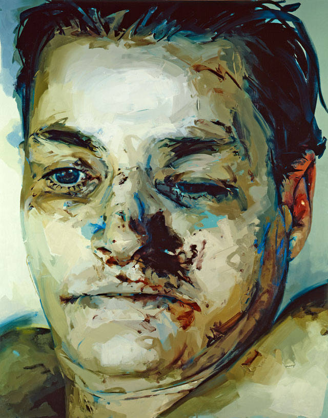 Jenny Saville. Entry, 2004–5. Oil on canvas, 240 x 191 cm. © Jenny Saville. Courtesy the artist and Gagosian.