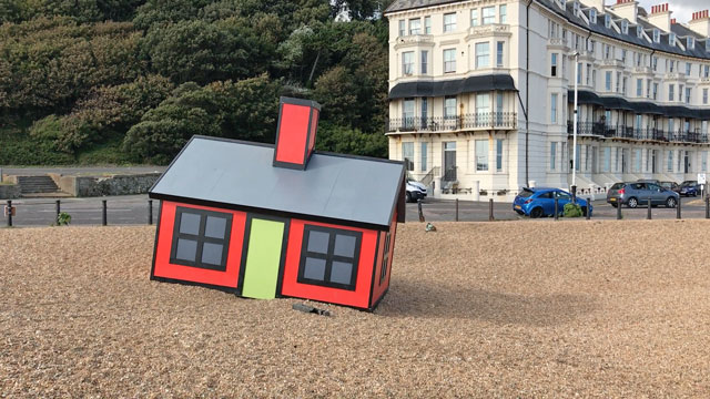 Richard Woods. Holiday Home, Folkestone Triennial, 2017. Photograph: Martin Kennedy.