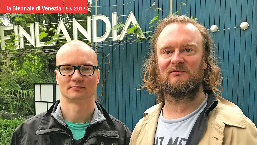Mellors and Nissinen represent Finland at this year's Venice Biennale. They discuss handmade puppets, homemade film sets, creation myths involving eggs, the flimsy narratives on which national identities are built, and whether you have to love something in order to make fun of it