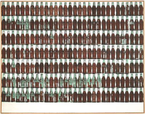 Andy Warhol. <em>210 Coca-Cola Bottles,</em> 1962. Silkscreen ink, acrylic, and pencil on linen, 209.6 x 266.7 cm. Daros Collection, Switzerland. © 2007 Pro Litteris, CH-8033 Zürich