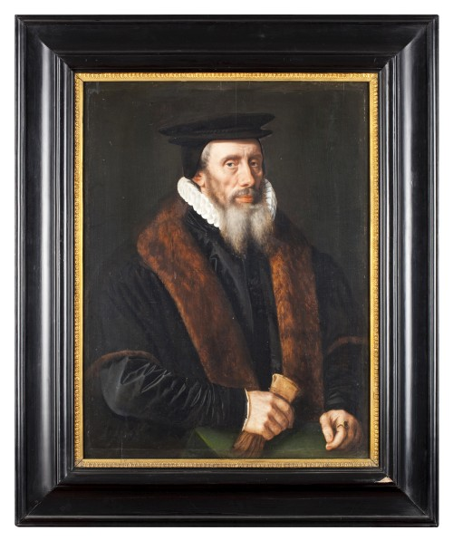 Adriaen Thomaz Key, Portrait of a Man, c1580. Oil on panel, 79 x 61.5 cm. Groeningemuseum, Brugge.