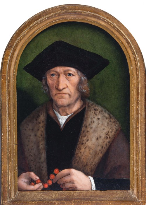 Michel Sittow. Portrait of a Gentleman, c1520. Oil on panel. Private collection, courtesy of Het Noordbrabants Museum, 's-Hertogenbosch (The Netherlands).
