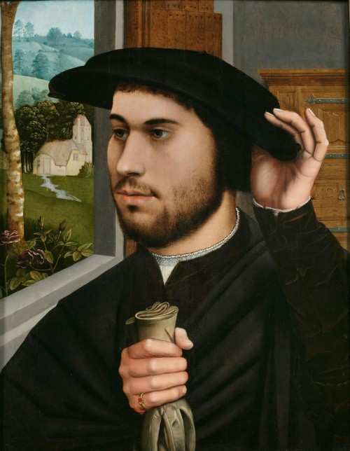 Ambrosius Benson. Portrait of a Man, c1530. Oil on panel. Private collection.