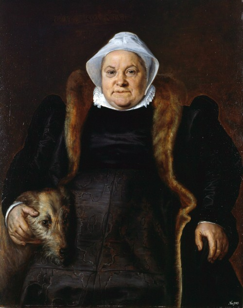 Frans Floris de Vriendt. Portrait of an old lady, 1558. Oil on panel. Musèe des Beaux-Arts de Caen.