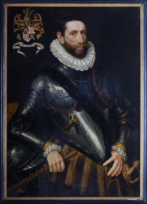 Attributed to Adriaen Thomasz. Key portrait of Johan II de Mauregnault, 2nd half of 16th century. Oil on panel. Museum Mayer van der Bergh, Antwerpen.