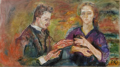 Portrait of Hans Tietse and Erica Tietse-Conrat, 1909. Oil on canvas, 76.5 x 136.2 cm. Abby Aldrich Rockefeller Fund. © 2013 Artists Rights Society (ARS), New York/Pro Litteris, Zurich.
