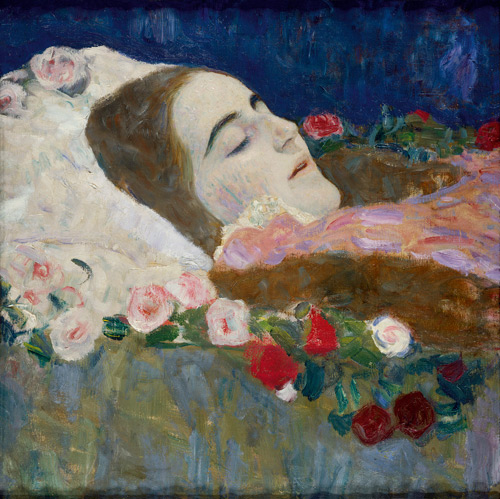 Gustav Klimt. Ria Munk on her Deathbed, 1912. Oil on canvas, 50 x 50.5 cm. Private Collection. Courtesy Richard Nagy Ltd., London. © Photo courtesy of the owner.