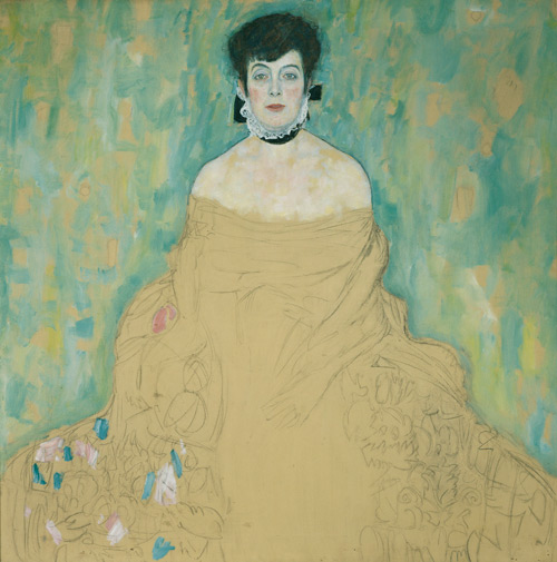 Gustav Klimt. Portrait of Amalie Zuckerkandl, 1917-18. Oil on canvas, 128 x 128 cm. © Belvedere, Vienna. Donated by Vita and Gustav Künstler.