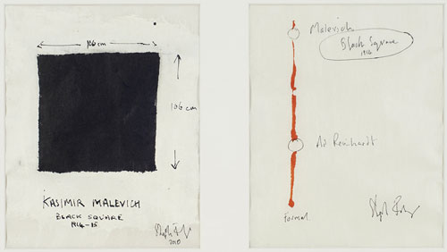 Stephen Farthing. The Drawn History of Painting: Malevich, 2010. Ink and crayon on paper. Courtesy of the artist.