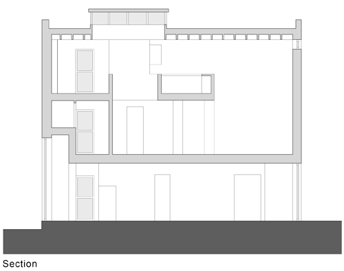 Melville Street Studio, Perth.   <em>Section</em>. © Fergus Purdie Architect.