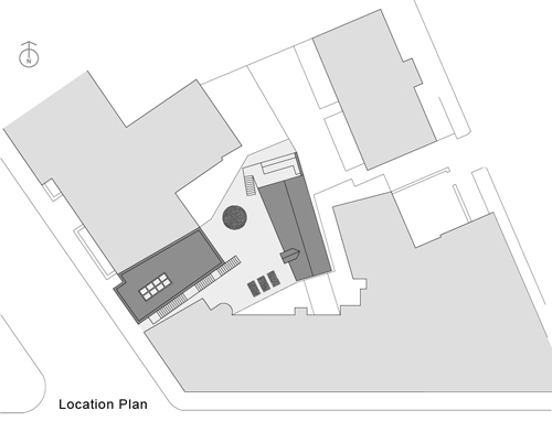 Melville Street Studio, Perth.   <em>Location plan</em>. © Fergus Purdie Architect.