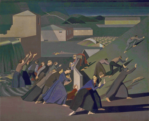 Winifred Knights. The Deluge, 1920. Oil paint on canvas, 152.9 x 183.5 cm. Tate. © The estate of Winifred Knights.