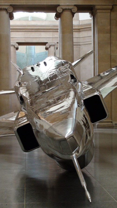 Fiona Banner: Harrier and Jaguar, installation view, Tate Britain Duveens Commission 2010, London.