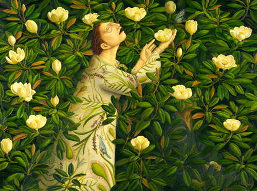 Helen Flockhart. Magnolia Grandiflora, 2010. Oil on canvas, 79 x 100 cm. © Helen Flockhart.